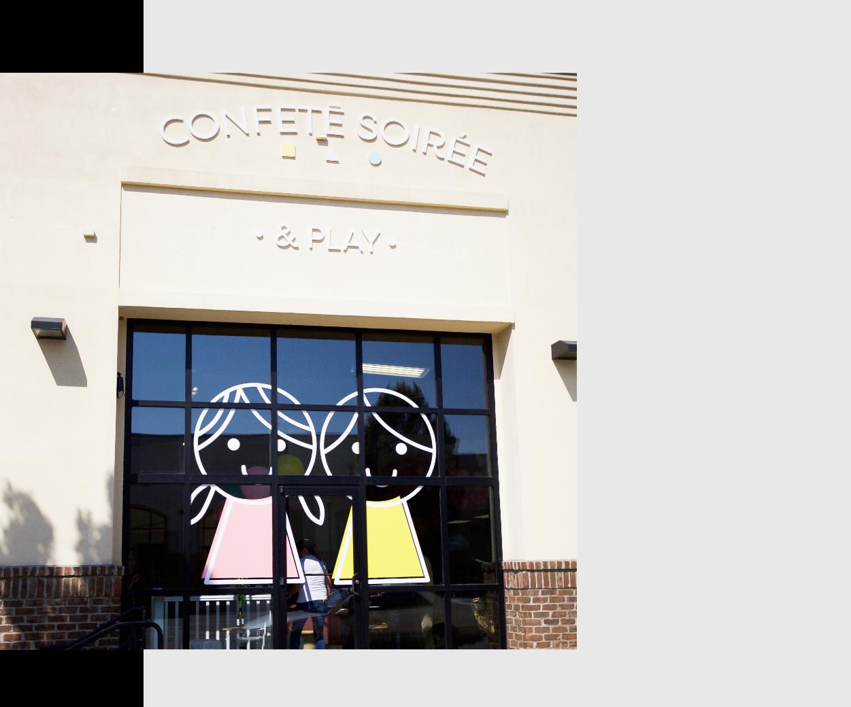 Confetē Soirée & Play storefront